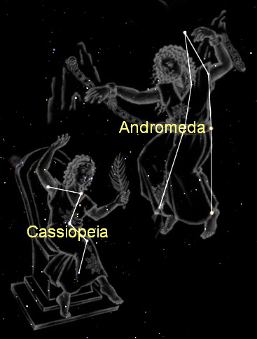 Andromeda and Cassiopeia