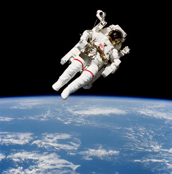 Astronaut in Earth orbit