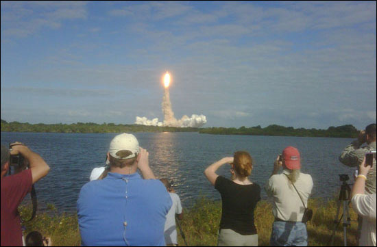 Viewing a launch at Cape Canaveral