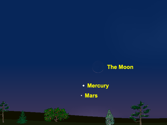 Mercury, Mars, Moon Feb 11