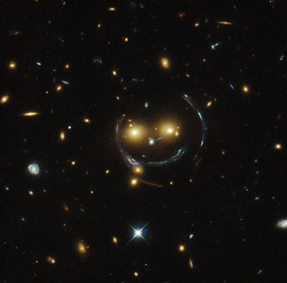Smiling galaxy cluster