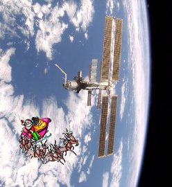 Santa Claus and the ISS