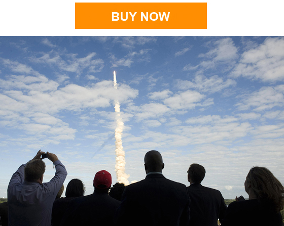 Crowd watching launch