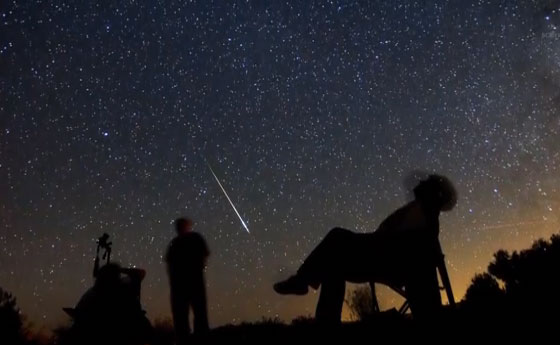 Watching a meteor shower