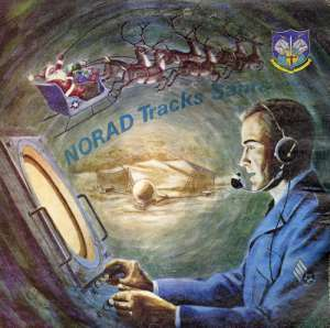 An airman tracking Big Red One at NORAD