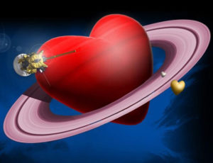 A heart in space