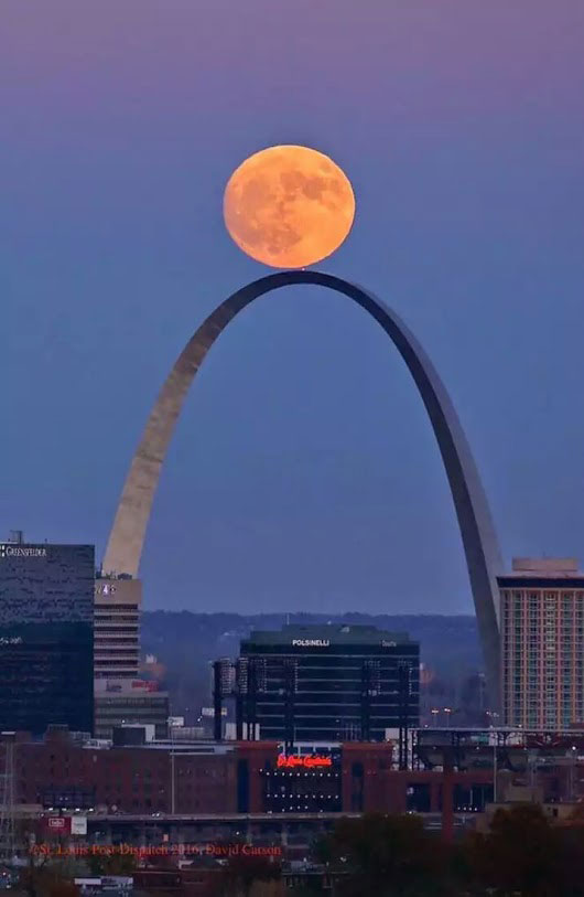 Super Moon over St. Louis