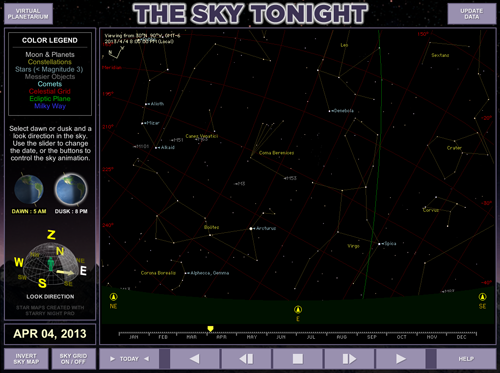 Sky Tonight module